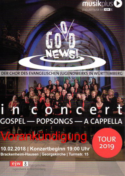 God News Good News Chor ejw Tour 2019 Hausen a.d.Z.